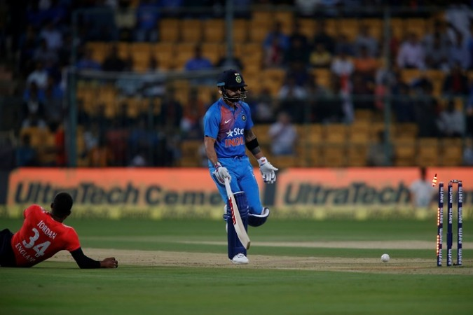 Kohli Gets Run Out