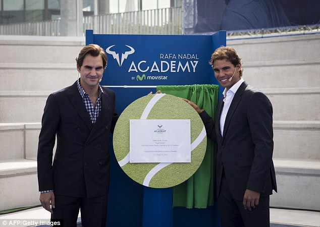 Fed & Nadal On Inauguration of Rafa Nadal Academy