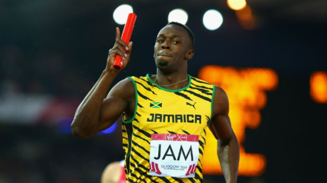 Bolt Guides His Team At Glasgow 2014 For Relay Gold