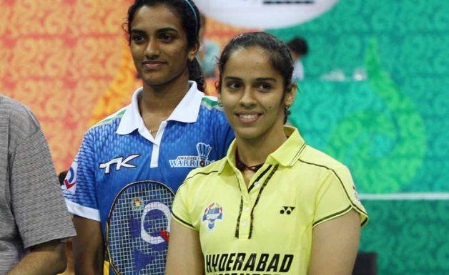 PV Sindhu-Left, Saina Nehwal-Right