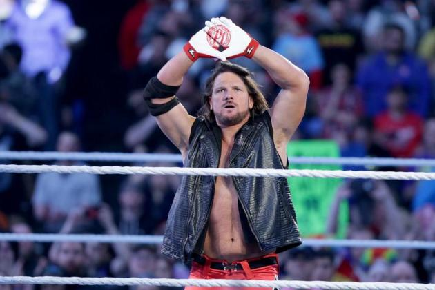 AJ Styles in his signature pose
